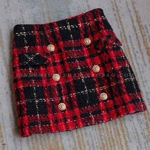 Embellished Tweed Mini Skirt