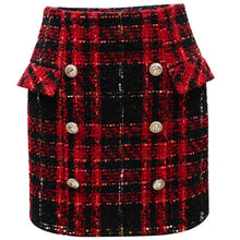 Load image into Gallery viewer, Embellished Tweed Mini Skirt