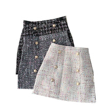 Load image into Gallery viewer, Tweed Mini Skirt