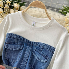 Load image into Gallery viewer, Denim Dress 2020 with Cotton Sweatshirt