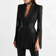 Load image into Gallery viewer, Classic Split Sleeves Black Blazer