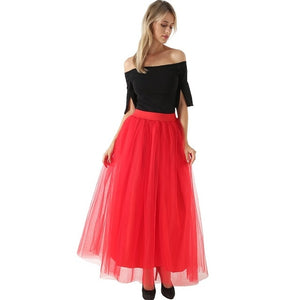 Voile Tulle Bouffant Puffy Long Tutu Skirts