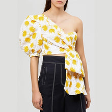 Load image into Gallery viewer, Puff Half Sleeve Shirts Crop Blouse