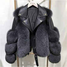 Load image into Gallery viewer, Luxury Fox Fur Coat