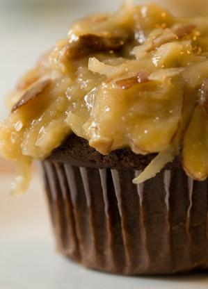 German's Chocolate Cupcakes