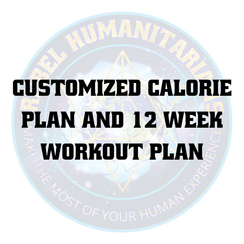 Customized calorie plan and 12 week workout plan