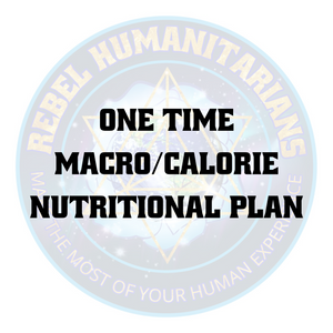 One time macro/calorie nutritional plan