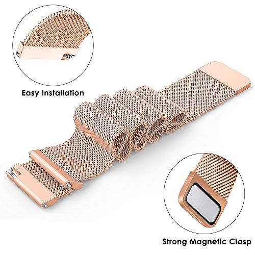Cavn Compatible Fitbit Versa Bands For Women Men, Replacement Milanese Loop  Stainless Steel Watch Band Bracelet Strap Wristbands For Fitbit Versa