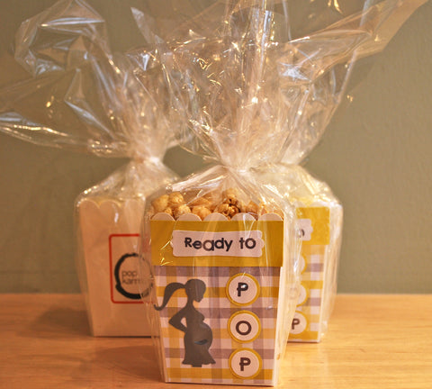 Ready to Pop Popcorn Box for Baby Shower