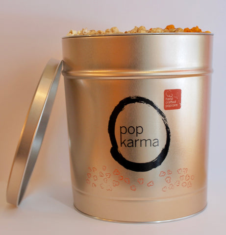 Holiday Gold Popcorn Tin