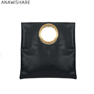 ANAWISHARE Women Leather Handbags Day Clutches Crosssbody Bags Messenger  Bags Ladies Envelope Evening Party Bag Bolsas 2f40b3afbf501
