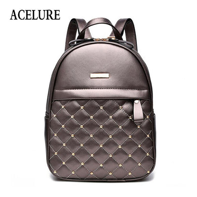 9affc923076d ACELURE Women Backpack Hot Sale Fashion Causal bags High Quality bead female  shoulder bag PU Leather