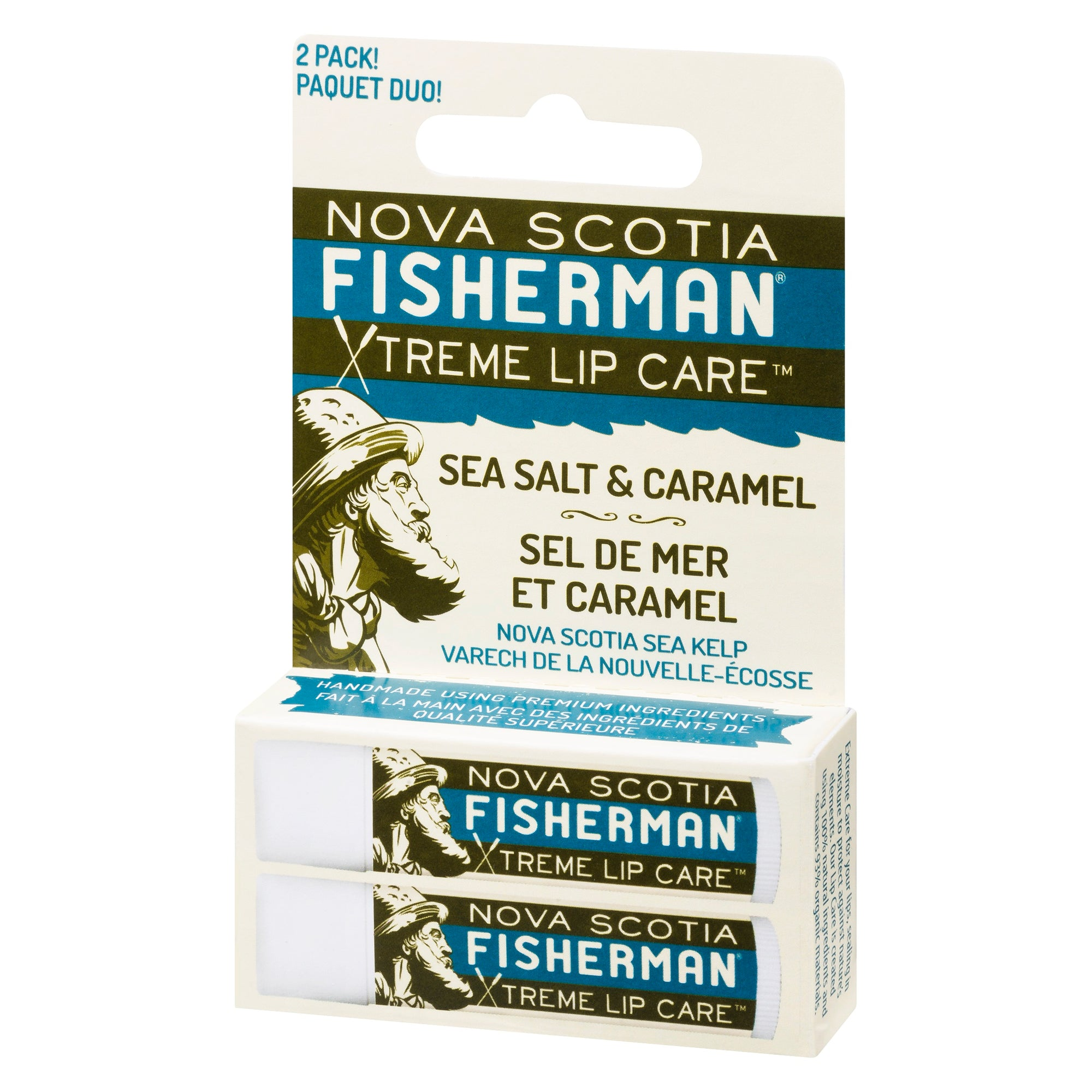 Lip Balm - Sea Salt N' Caramel (Double Pack) - Nova Scotia Fisherman Sea Kelp Skincare