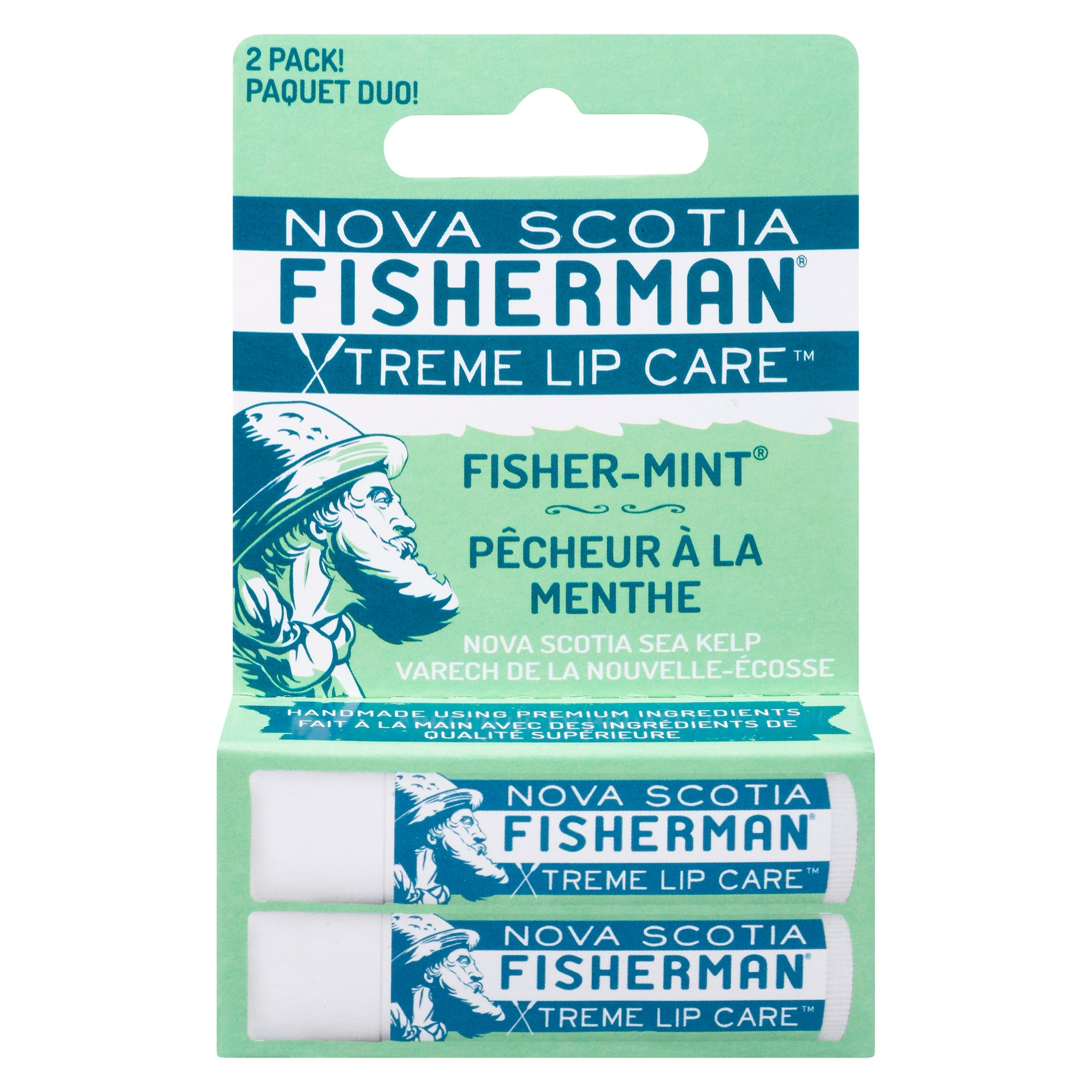 Lip Balm - Fishermint (Double Pack) - Nova Scotia Fisherman Sea Kelp Skincare