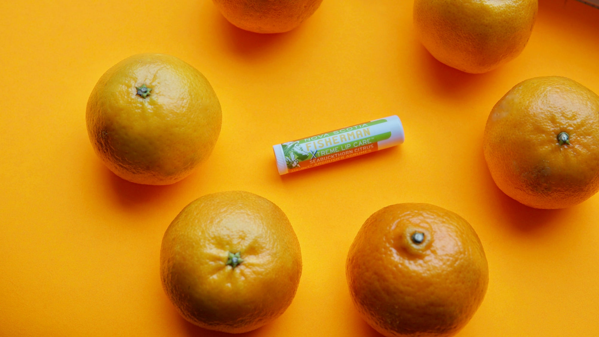 Lip Balm - Seabuckthorn Citrus (Double Pack) - Nova Scotia Fisherman Sea Kelp Skincare