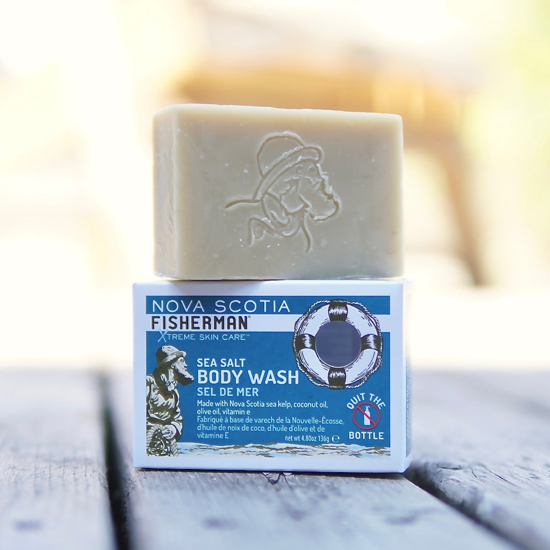 New! Body Wash Bar - Sea Salt - Nova Scotia Fisherman Sea Kelp Skincare