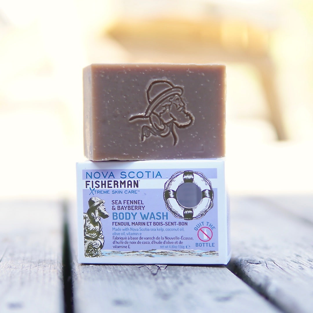 New! Body Wash Bar - Sea Fennel and Bayberry - Nova Scotia Fisherman Sea Kelp Skincare