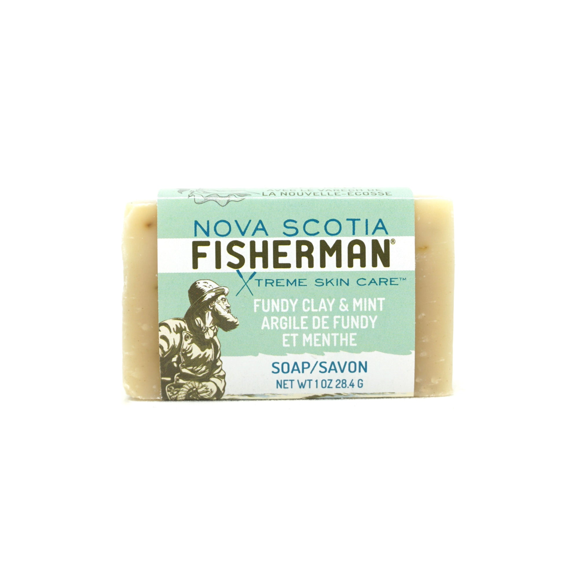 Hand & Face Soap Bar - Fundy Clay & Mint - Nova Scotia Fisherman Sea Kelp Skincare
