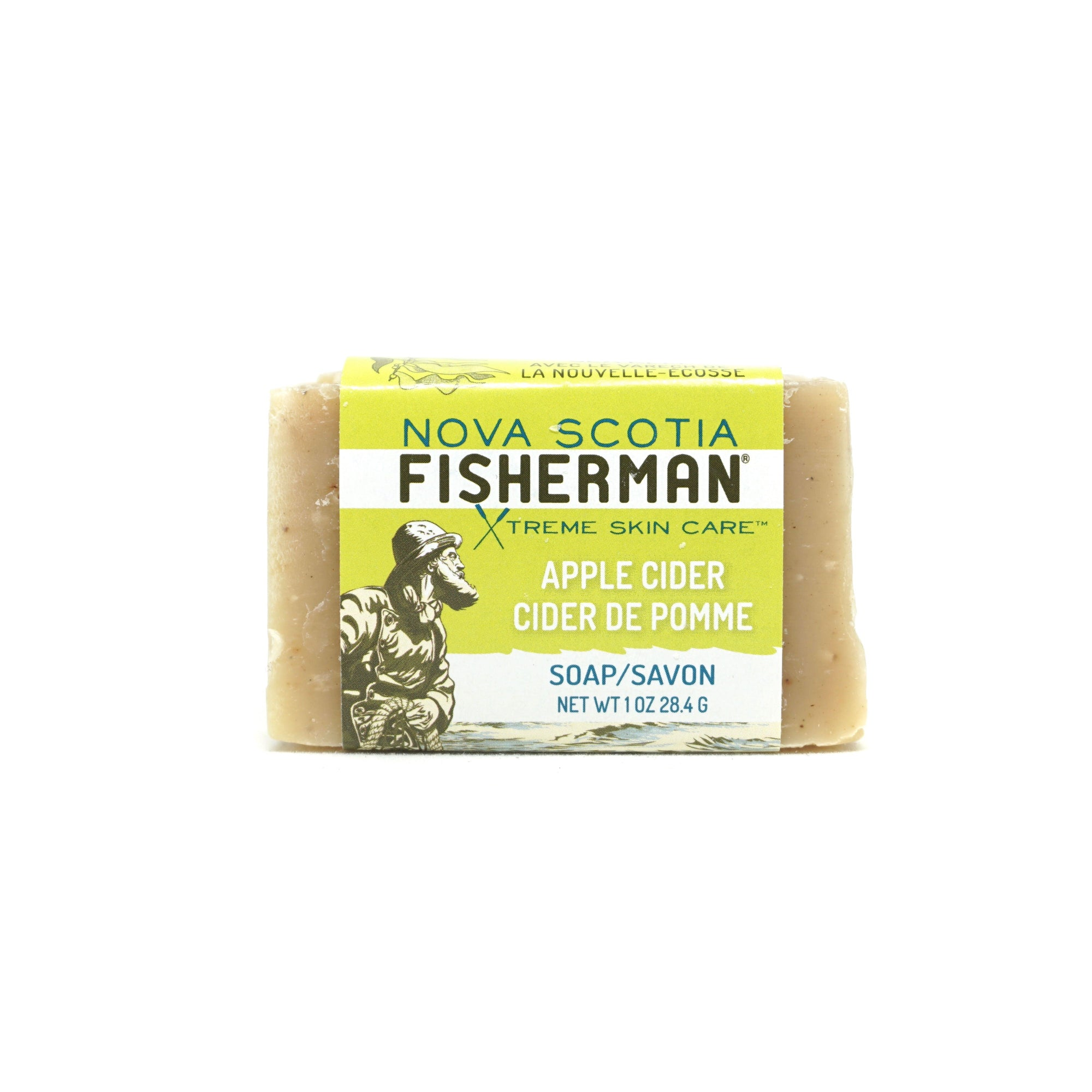 Hand & Face Soap Bar -Apple Cider & Cinnamon - Nova Scotia Fisherman Sea Kelp Skincare