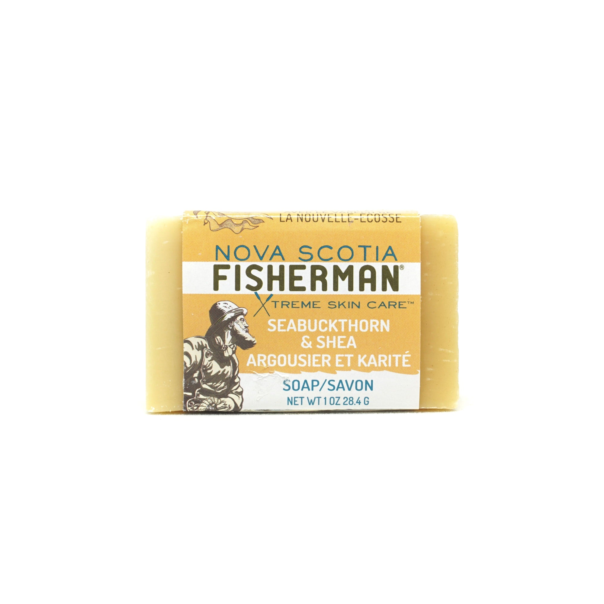 Hand & Face Soap Bar - Seabuckthorn and Shea - Nova Scotia Fisherman Sea Kelp Skincare