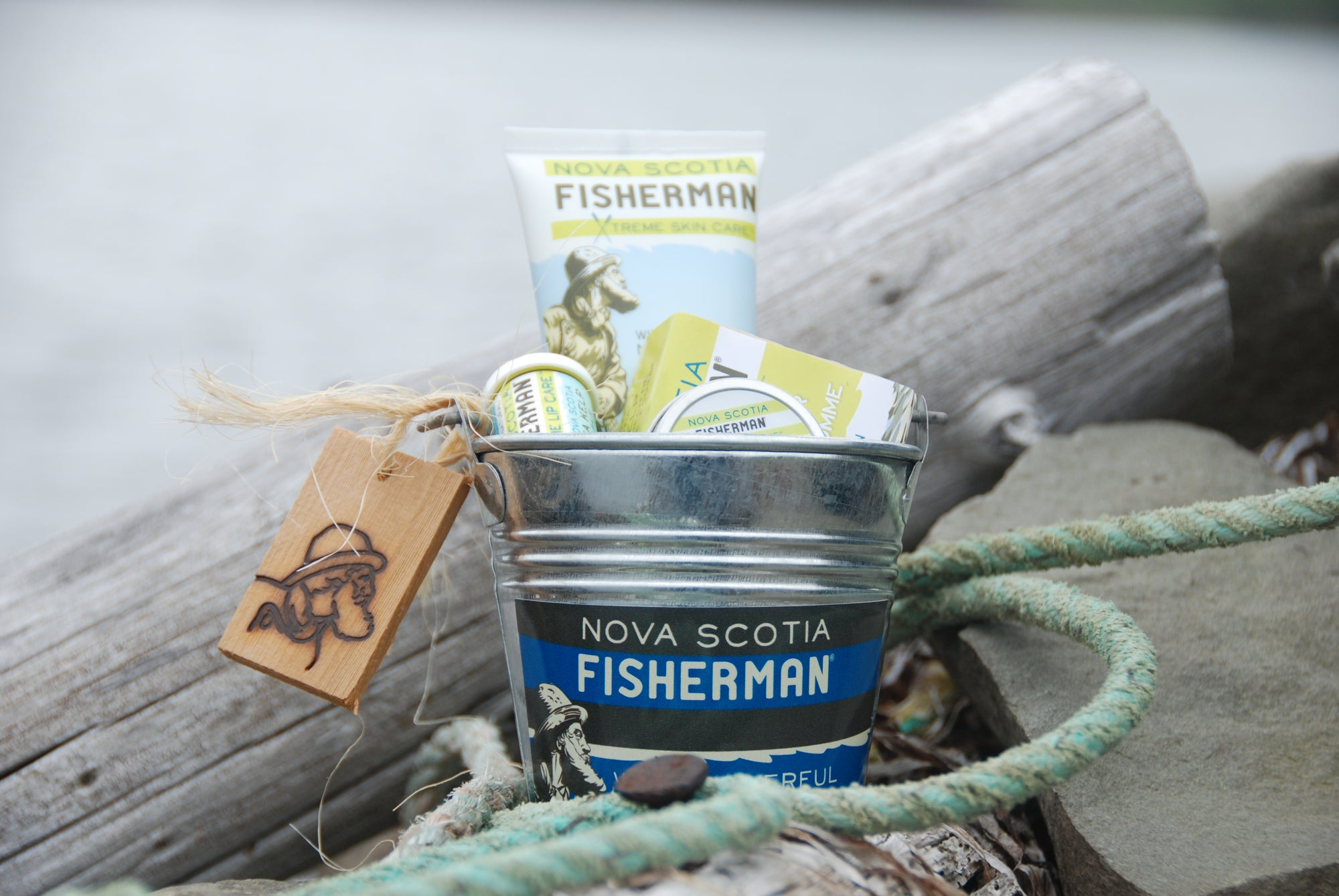 Captain's Gift Bucket - Nova Scotia Fisherman Sea Kelp Skincare