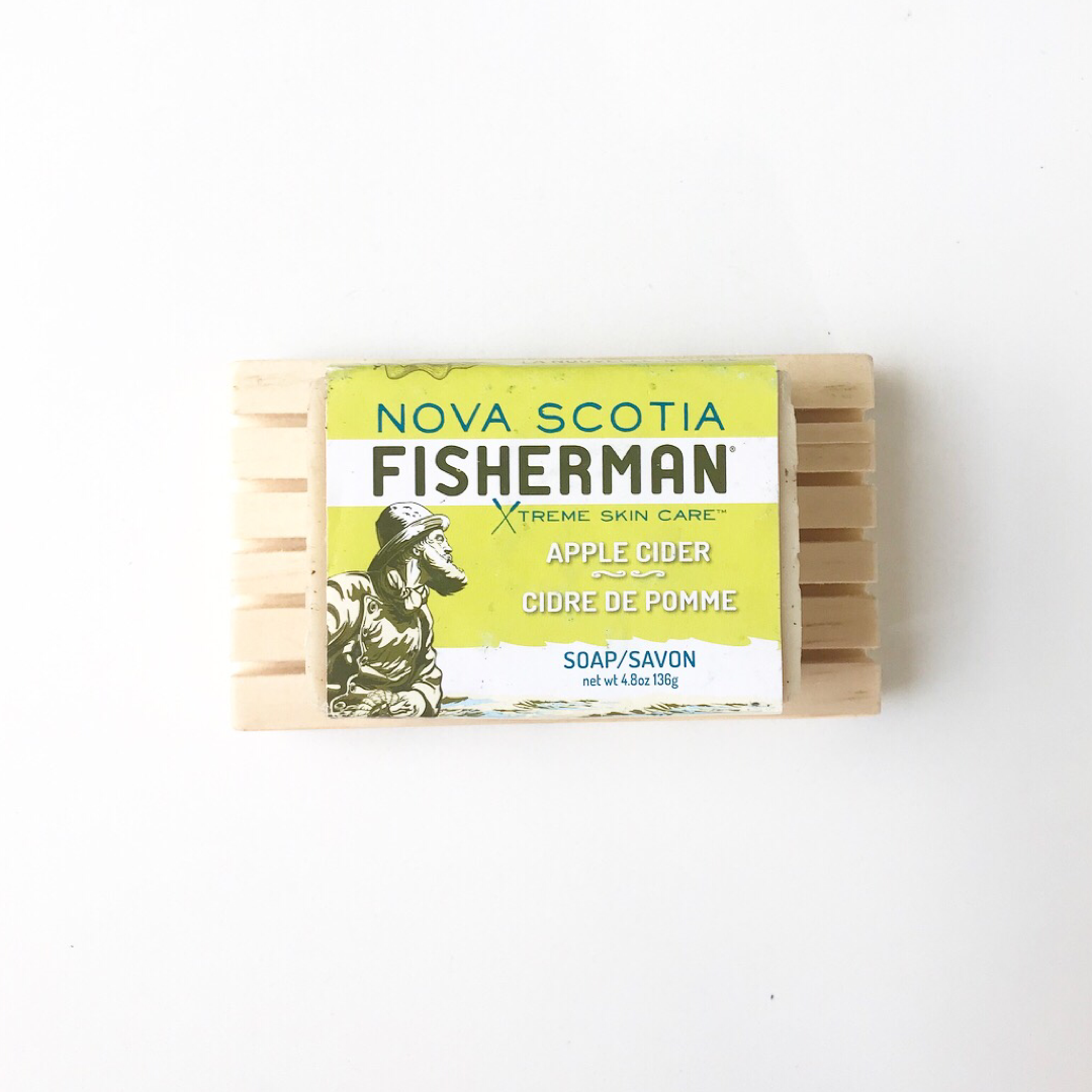 Hand Made Wooden Soap Dock - Nova Scotia Fisherman Sea Kelp Skincare