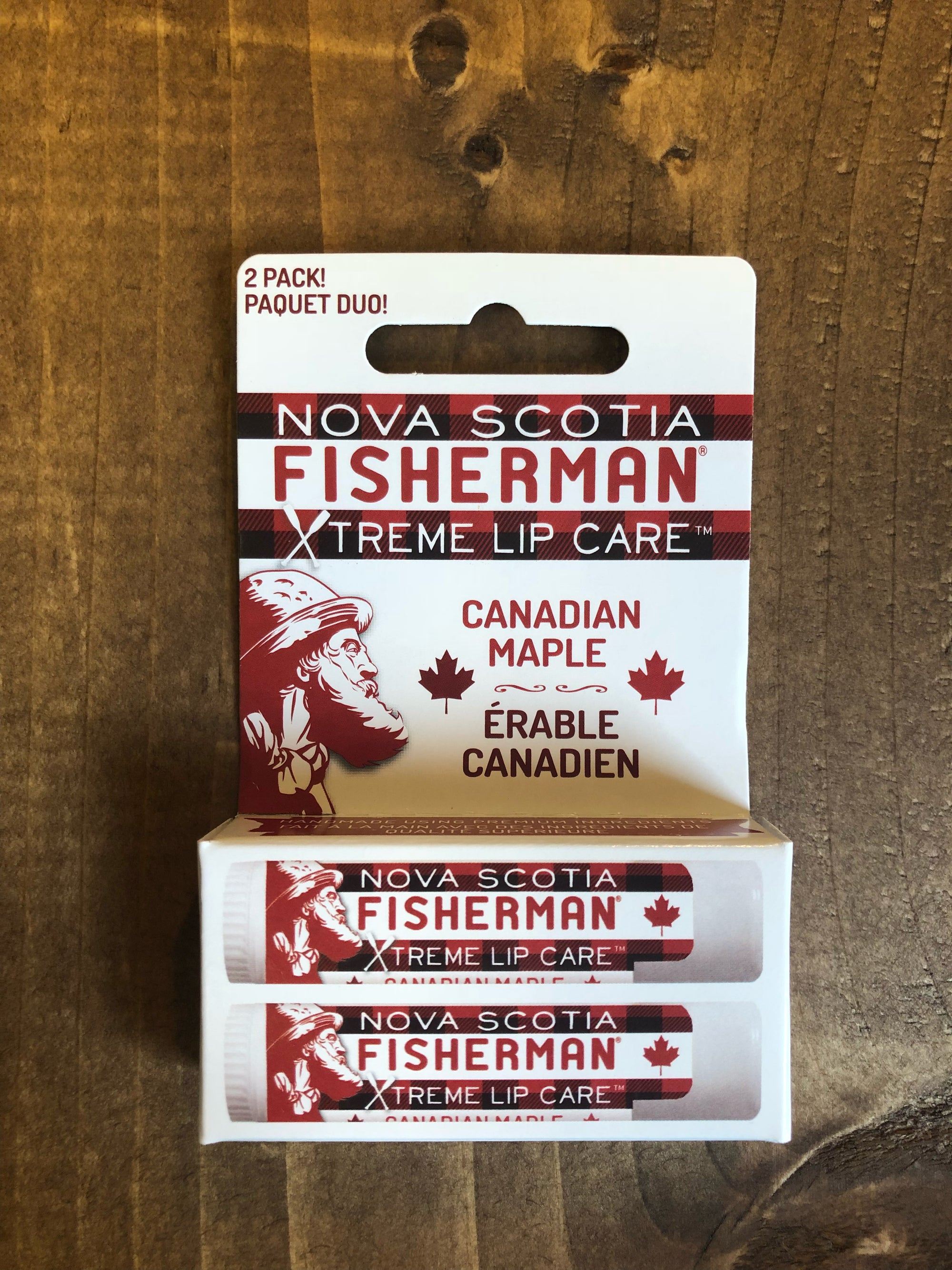 Lip Balm - Canadian Maple (Double Pack) - Nova Scotia Fisherman Sea Kelp Skincare
