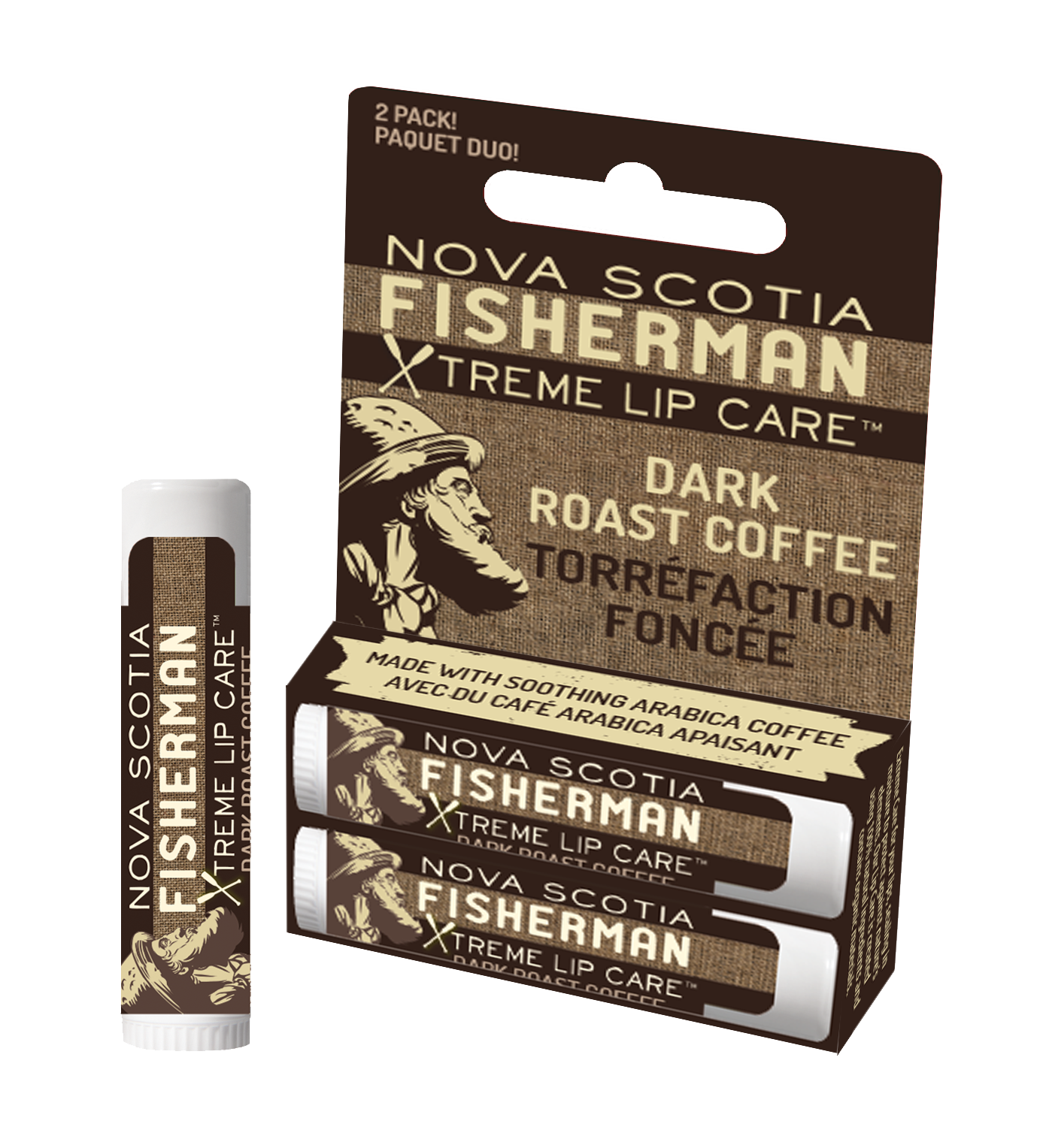 New! Two Pack Lip Balm - Dark Roast Coffee