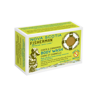 New! Body Wash Bar - Cider & Cinnamon - Nova Scotia Fisherman Sea Kelp Skincare