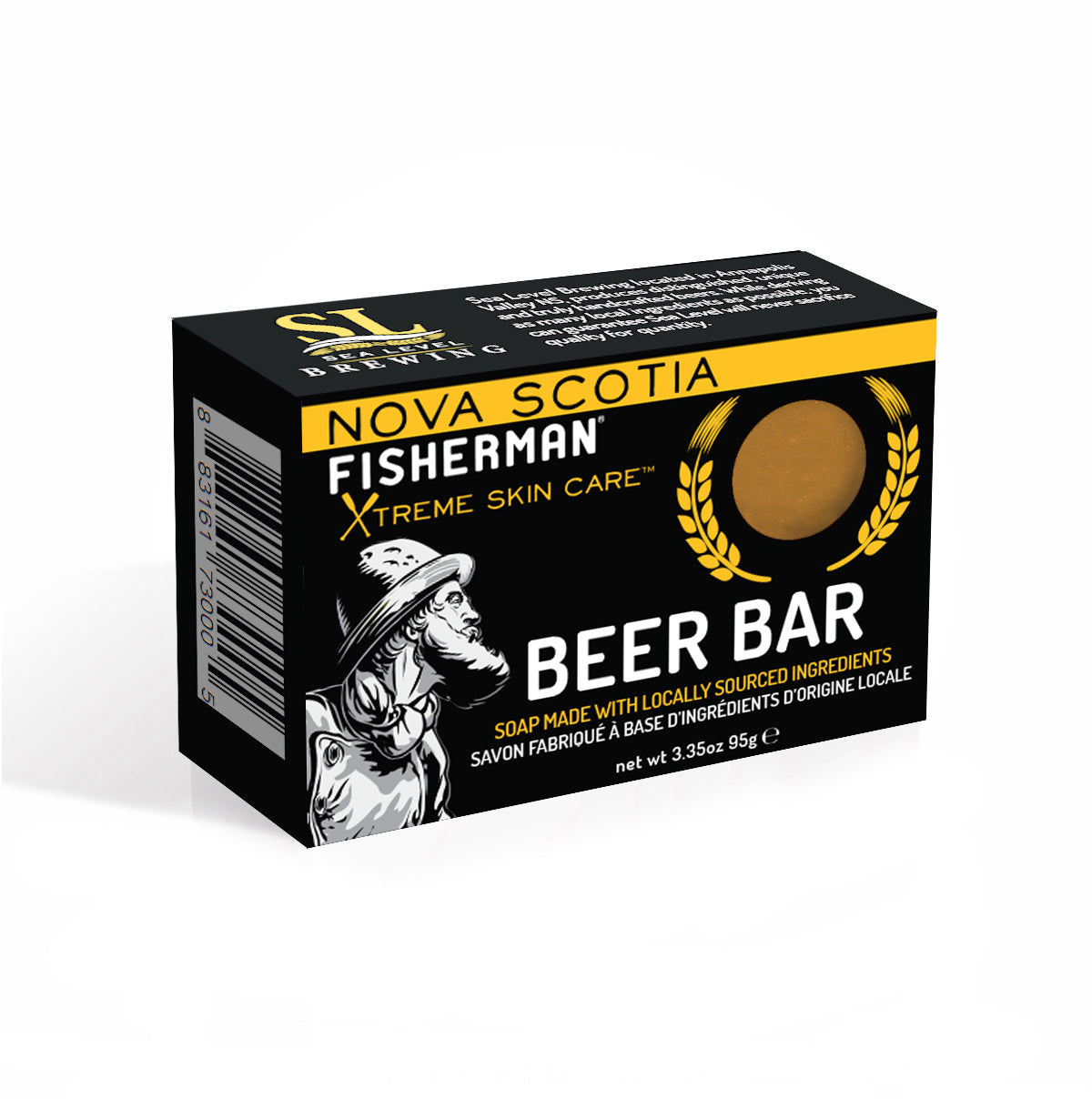 Natural Bar Soap - Beer Bar - Nova Scotia Fisherman Sea Kelp Skincare