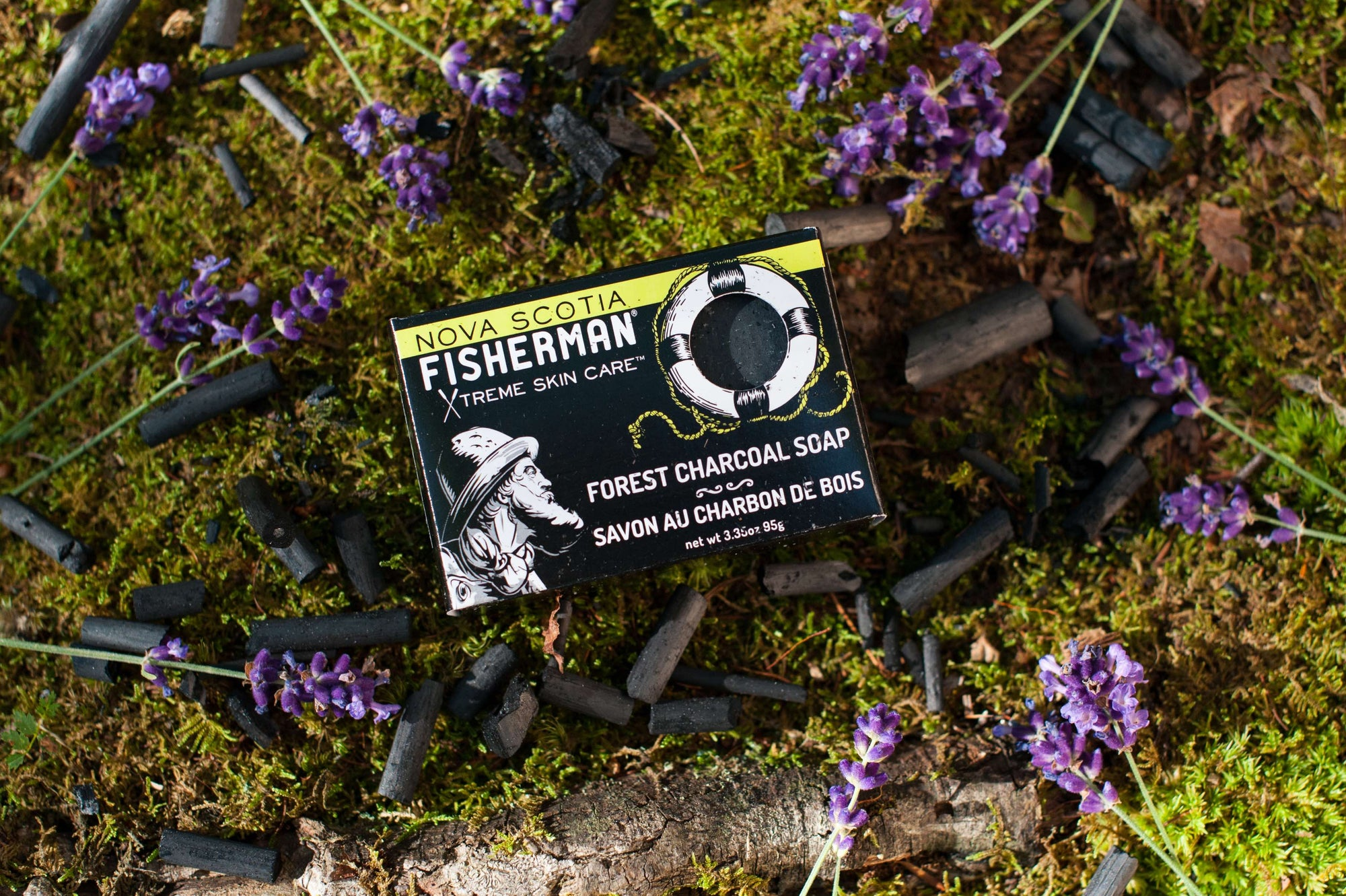 Natural Bar Soap - Forest Charcoal - Nova Scotia Fisherman Sea Kelp Skincare