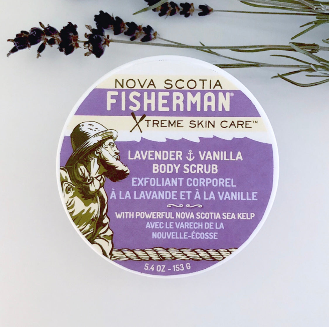 Salt-N-Sea Body Scrub - Lavender & Vanilla - Nova Scotia Fisherman Sea Kelp Skincare