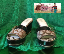Load image into Gallery viewer, Coach Signature Wedges Size 8.5b