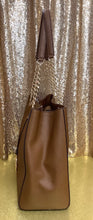 Load image into Gallery viewer, Michael Kors Susannah Large Saffiano Luggage Brown Leather Tote