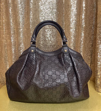 Load image into Gallery viewer, Dark Brown Guccissima Leather Medium Sukey Tote Bag