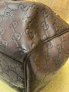 Dark Brown Guccissima Leather Medium Sukey Tote Bag
