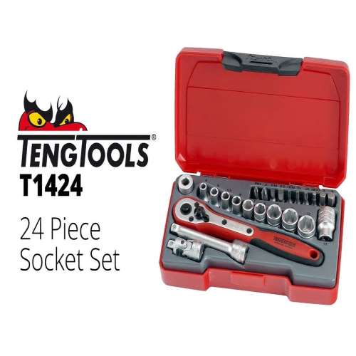Teng 1/4 Ratchet/Socket Set