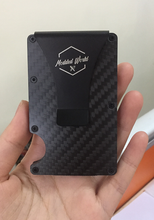 Load image into Gallery viewer, CARBON FIBER CARD HOLDER - MODDED WORLD