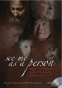 The See Me as a Person CD provides a diversemix of patient stories and caregiver reflections on therapeutic relationships. Each track is carefully crafted to inspire and deepen our experience of what it means to be fully present for those we care for. Includes a 36 page full color booklet with lyrics and track information. Compact Disc, 10 tracks. (2011) • $19.95 • A520CD