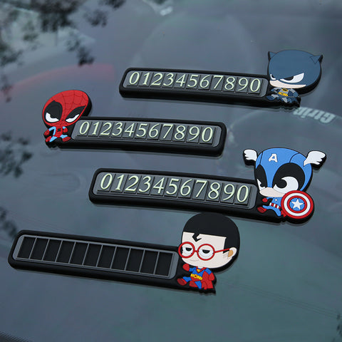 Car Phone Number Windshield Sticker