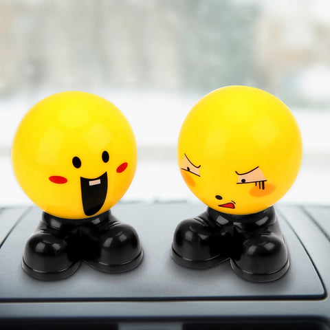 Angry Happy Car Dashboard Toys Yellow Dolls