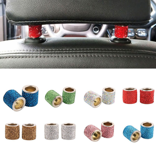 Car Headrest Crystal Ring ( 2 Pcs )