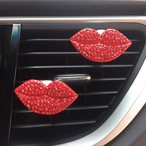 Reusable Lips Car Air Freshener ( 2 Free Tablets )