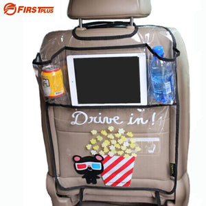 Clear Plastic Car Seat Protective Cover with Storage Areas Car Seat Covers New Car Gadgets