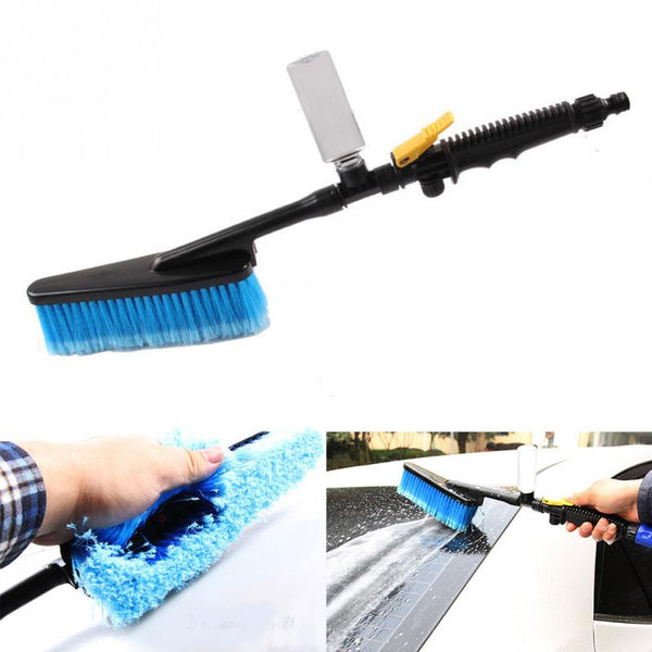 Car Wash Brush with Foam Bottle, Valve, and Long Handle Car Cleaning Gadgets New Car Gadgets