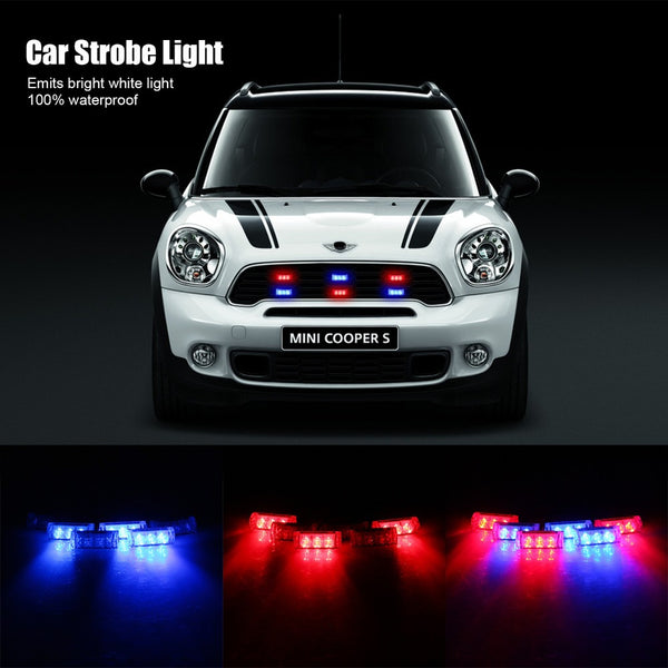 Car Police Lights Strobe Flashing Emergency Lights Car Exterior Lighting New Car Gadgets