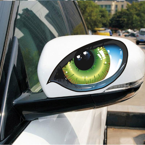3D Eyes Car Stickers good for side mirrors (1 Pair) Car Stickers Decals New Car Gadgets