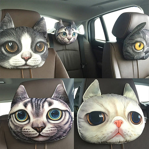 New Unique Cat Car Headrest Cushion Car Seat Covers New Car Gadgets
