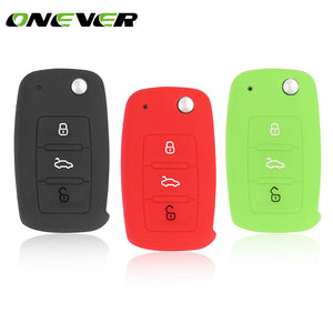 3 Buttons Silicone Car Key Cover Protective Case Key Shell Car Key Covers New Car Gadgets