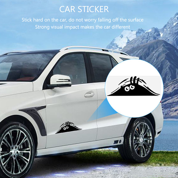 Funny Peeking Monster Car Sticker Decal Car Stickers Decals New Car Gadgets